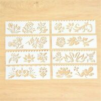 8pcs/set Beautiful Flowers Layering Stencils For Walls Painting Scrapbooking DIY
