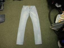 """ONADO RÖHRENJEANS Taille 28"""" Bein 33"""" ausgewaschenes Hellblau Damen Jeans"""