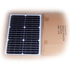 Solarmodul 12V 20W Solarpanel 12 Volt 20 Watt monokristallin für Garten