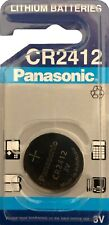 4 x Panasonic Batterie Lithium CR 2412 CR2412 3 Volt CR2412S