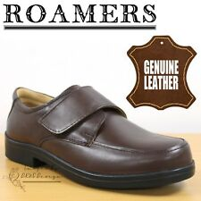 6632abef90b Roamers Classic Men s XXX Extra Wide Fitting Comfort Shoes Brown Softie  Leather