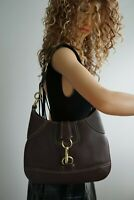 Coach Brown Leather Shoulder Handbag or Purse pebbled Leather