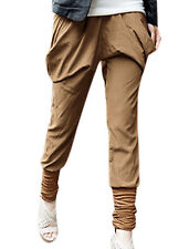 Polyester Tapered Capris, Cropped Pants for Women