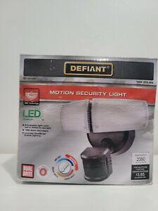 Defiant Twin Head Flood Light 180-Degree Bronze Adjustable Color Temperature
