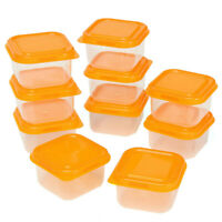 10pcs Mini Food Storage Containers 100ml Plastic Freezer Boxes Beans Case