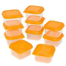 10pcs Mini Food Storage Containers 100ml Plastic Freezer Boxes Beans Case