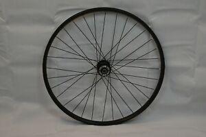 "Bontrager Super Stock Front 26"" MTB Bike Wheel 17mm OLW100 24S Disc USA Charity!"