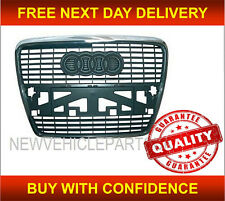 AUDI A6 2005-2009 FRONT BUMPER GRILLE WITH CHROME FRAME NEW HIGH QUALITY