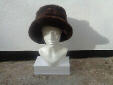 True Vintage Simon Charles marrone media e grande cappello di pelliccia