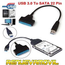 Cable USB 3.0 a SATA 22 Pin 2.5 pulgadas Adaptador de Disco Duro SSD Conector