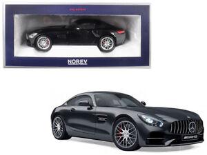 1/18 Norev Mercedes Benz AMG GTS Diecast Model Car Metallic Black 183497