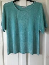 Klass Ladies knitted chenille short sleeve top size xxl - quality