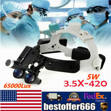 Dental Surgical Magnifier Binocular Loupes 35x Dentist With Led Head Light 5w