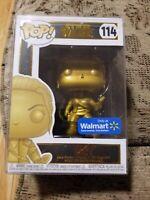 Funko POP Star Wars Rey Gold Chrome Walmart Exclusive!  114- New! w protector
