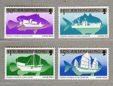 Hong Kong 1986 Fishing Vessels , Compelete 4V MNH