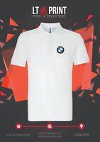 Embroidered BMW Logo Polo Shirt, Workwear Uniform Auto Sports Top