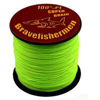 Green Bravefisherman 100-1000M 6-300LB Strong PE Braided Fishing Line