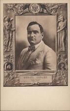 ORIGINAL ENRICO CARUSO MEMORIAL POSTCARD 1921. OPERA SUPERSTAR IN HIS TIME MINT