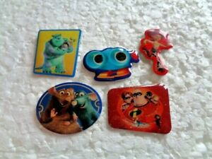 Job lot of 5 Disney/Pixar film cartoon character Toy story etc metal lapel pins