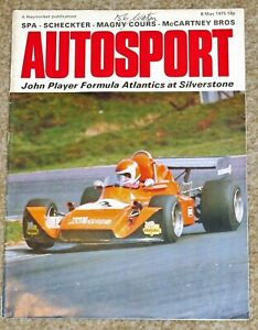 Autosport 8/5/75* SPA 1000Kms - MAGNY COURS F2 - RONNIE & DESSIE McCARTNEY FEAT.