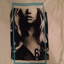 Tony Hawk Graphic White Misfit Tee T Shirt L Hot Lips Blonde Cleavage #68 BNWT