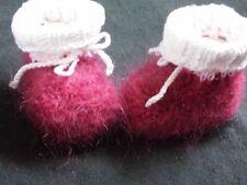 Unisex Baby-Schuhe aus Wollmischung mit Strick/Gehäkeltem
