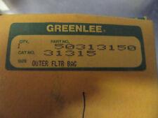 V207 Greenlee 50313150 Outer Filter Bag Nos Cat# 31315