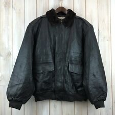 Vintage LL Bean G1 Goatskin Leather Fur Collar Flying Tiger Bomber A2 Jacket XXL
