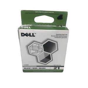 Genuine OEM Dell Printer Ink Cartridge Black 21 Series Y498D New In Box Sealed