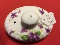 RADFORD EMBASSY WARE BONE CHINA VINTAGE SPRING VIOLETS 2516 FLUTED Tea Pot Top