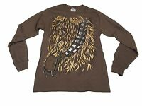 Star Wars Chewbacca Chewwy Costume Authentic Licensed Men's Long Sleeve Shirt