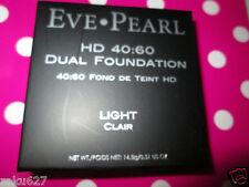 EVE PEARL HD DUAL 40:60 DUAL FOUNDATION 0.51oz. LIGHT (clair) w/Sponge BNIB $58