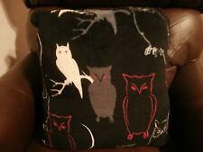 Owl Decorative Pillow - Black