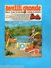 TOP974-PUBBLICITA'/ADVERTISING-1974- MATTEL - LA PISCINA DI BARBIE