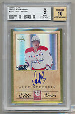 2011-12 Elite Series Autographs Alex Ovechkin Gold Foil AUTO /50 BGS 9/10 MINT!!
