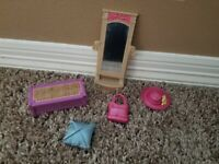 Fisher Price Loving Family Bedroom Furniture 5 Piece Lot