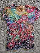 Kavio Girl XL Burnout Colorful Circle Swirl Short Sleeve Shirt