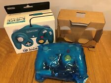 Boxed Official Nintendo Emerald Blue Gamecube Wii U Controller JAPAN F/S
