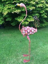 FLAMINGO Large Metal Garden Sculpture Ornament TALL **LOVELY CHRISTMAS  GIFT**