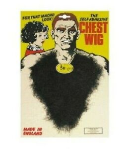 Chest Wig Hair Black Brown Grey 70s Fancy Dress Mens Costume Party Accessory