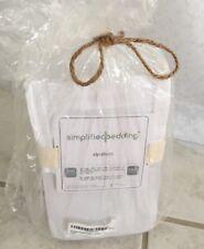 "Simplified Bedding Zip Sheet Twin 68"" x 86"" White 100% Cotton Sateen 300 Thread"