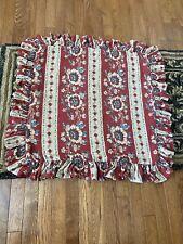 Ralph Lauren Cassis Floral Stripe European Pillow Sham, Original Owner, Euc