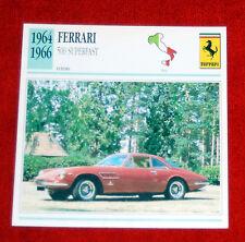 1964-66 Ferrari 500 Superfast - Edito-Service, SA collector card