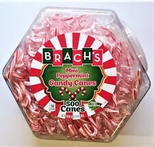 BRACH'S Mini Candy Canes 'Peppermint' Zuckerstangen 500 Stück = 2150gr aus USA