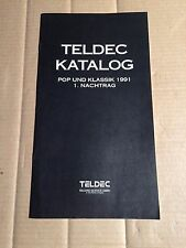 TELDEC - KATALOG - POP UND KLASSIK 1991 - 1. NACHTRAG - CD -LP - MC