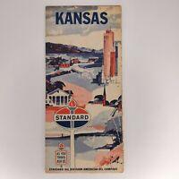 Vintage Standard Oil Travel Road Map Kansas 1960s?