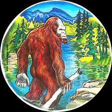 Bigfoot Home 3 inch round Sticker