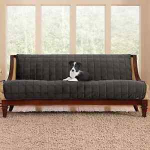 sure fit Deluxe Comfort Armless sofa  Furniture Cover grey new
