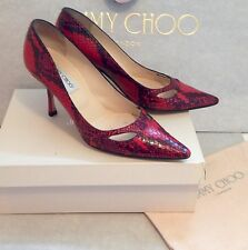 ONE OFF SHOES by Jimmy Choo - Red Snakeskin - Margo - Size 39