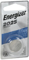 Energizer 2025 Batteries 3V Lithium ECR2025BP use in watches and calculators